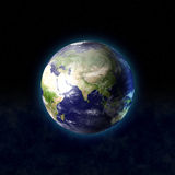 3d globe in space Stock Images