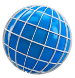 3d globe symbol of earth Royalty Free Stock Image