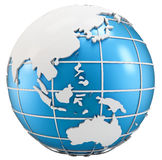 3d globe symbol of earth Stock Images