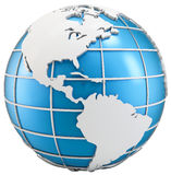 3d globe symbol of earth Stock Image