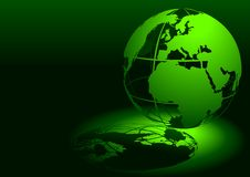 3D globe - vert Images libres de droits