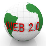 3d globe and web 2.0 Royalty Free Stock Image