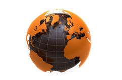 3d globe on white background Stock Photos