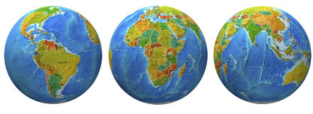 3d globes Royalty Free Stock Photo