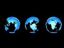 3d globes Royalty Free Stock Photography