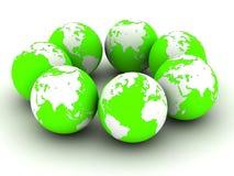 3d globes Stock Image