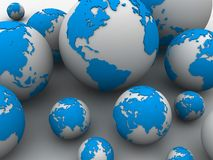 3d globes Royalty Free Stock Images