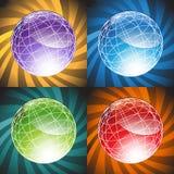 3D globos - fundo ilustração stock