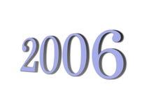 3D gloednieuw jaar 2006 Stock Fotografie