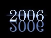 3D gloednieuw jaar 2006 Royalty-vrije Stock Foto