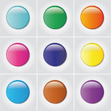 3D glossy buttons Royalty Free Stock Photos