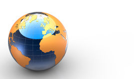 3d glossy globe Stock Photography