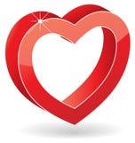 3D Glossy Heart. Stock Image