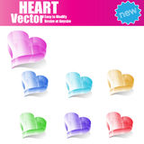 3d  Glossy Heart. Abstract 3d Vector Glossy Heart Stock Photography