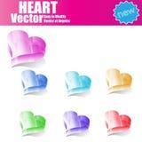 3d  Glossy Heart Stock Photography