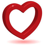 3D Glossy Red Heart. Stock Photography