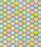 3d glossy reflective balls pattern Royalty Free Stock Photos