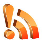 3d glossy rss icon stock images