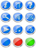 3D Glossy Web Buttons Stock Photo
