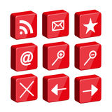 3d glossy web icon set Royalty Free Stock Images