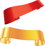3d Glow Vector Red  Yellow Banners Stock Photo