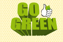 3d go green Royalty Free Stock Photo