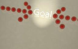 3D Goal Stock Photo