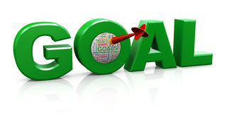 3d goal word tags Royalty Free Stock Images