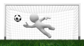 3d goalkeeper Stock Image