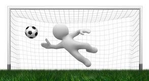Free 3d Goalkeeper Stock Image - 1662331