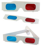 3D goggle. Series of 3D goggle, isolated against background stock images