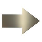 3d Gold Arrow. Over white background Stock Photos