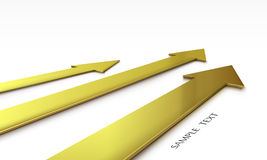 3d gold arrow comparison set Stock Photo