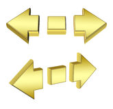 3D gold arrows Stock Image
