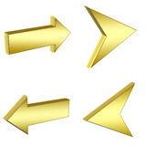 3D gold arrows Royalty Free Stock Photo