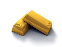 3D Gold Bars Royalty Free Stock Images