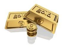3d gold bars Royalty Free Stock Photos
