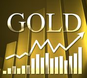 3D Gold Chart Stock Photography