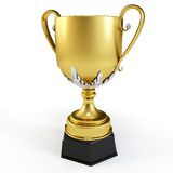 3d gold cup trophy Royalty Free Stock Image