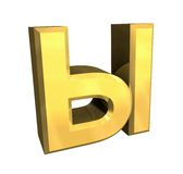 3d gold cyrillic letter Stock Photo