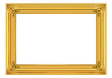 3d gold frame Stock Image