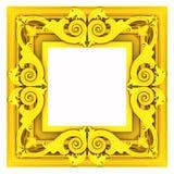 3d gold framework Stock Image