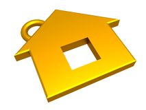 3d gold house Royalty Free Stock Image