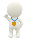 3D Gold medalist Royalty Free Stock Images
