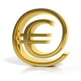 3D gold money online symbol Stock Photo