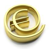 3D gold money online symbol Royalty Free Stock Photos