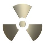 3d Gold Radioactivity Symbol Royalty Free Stock Photography