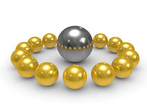 3D gold and silver Royalty Free Stock Photo