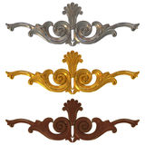 3d gold and silver ornate Royalty Free Stock Images