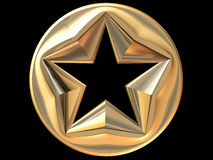 3D Gold star Royalty Free Stock Photo